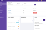 CoachVantage screenshot: Dashboard gives you a quick view of upcoming appointments, client's to-do list, your coaching hours and revenue earned.