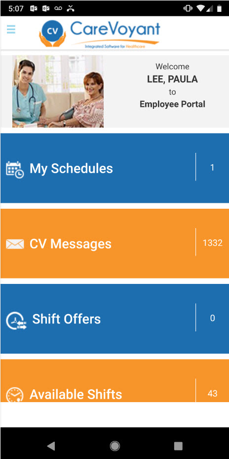 Employee Portal Home Page