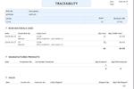 NutraSoft screenshot: Nutrasoft traceability
