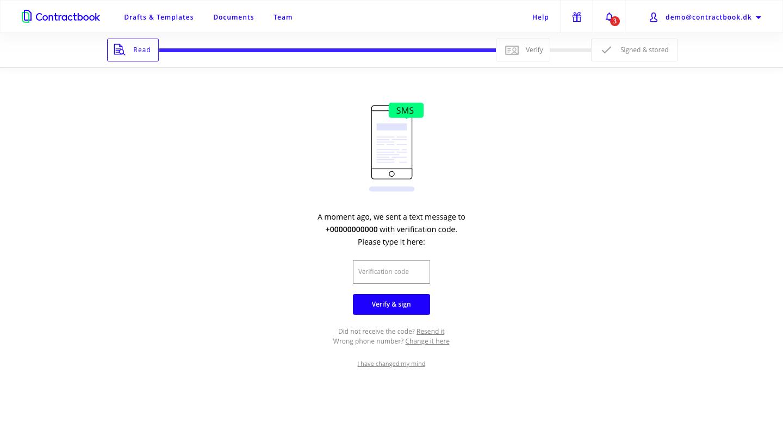 Contractbook Software - Verification