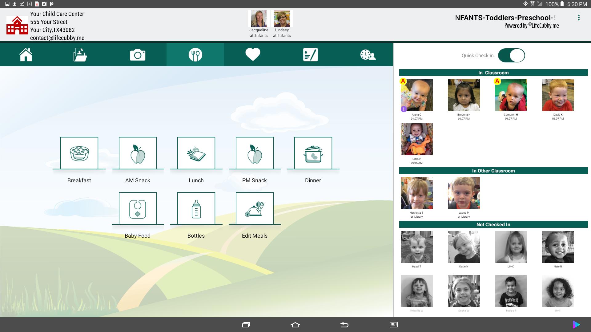 LifeCubby Classroom App