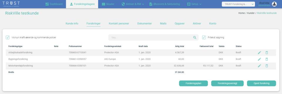 RiskVille Client Management
