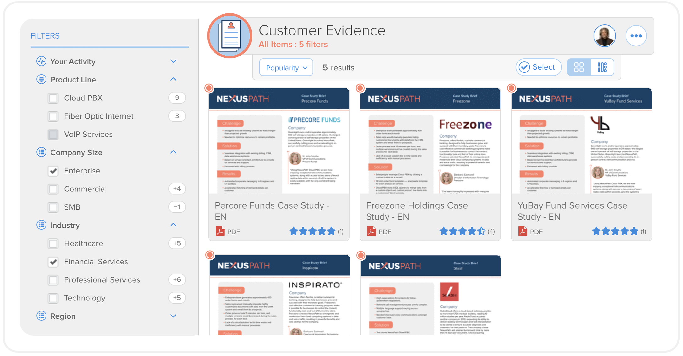 Customer evidence