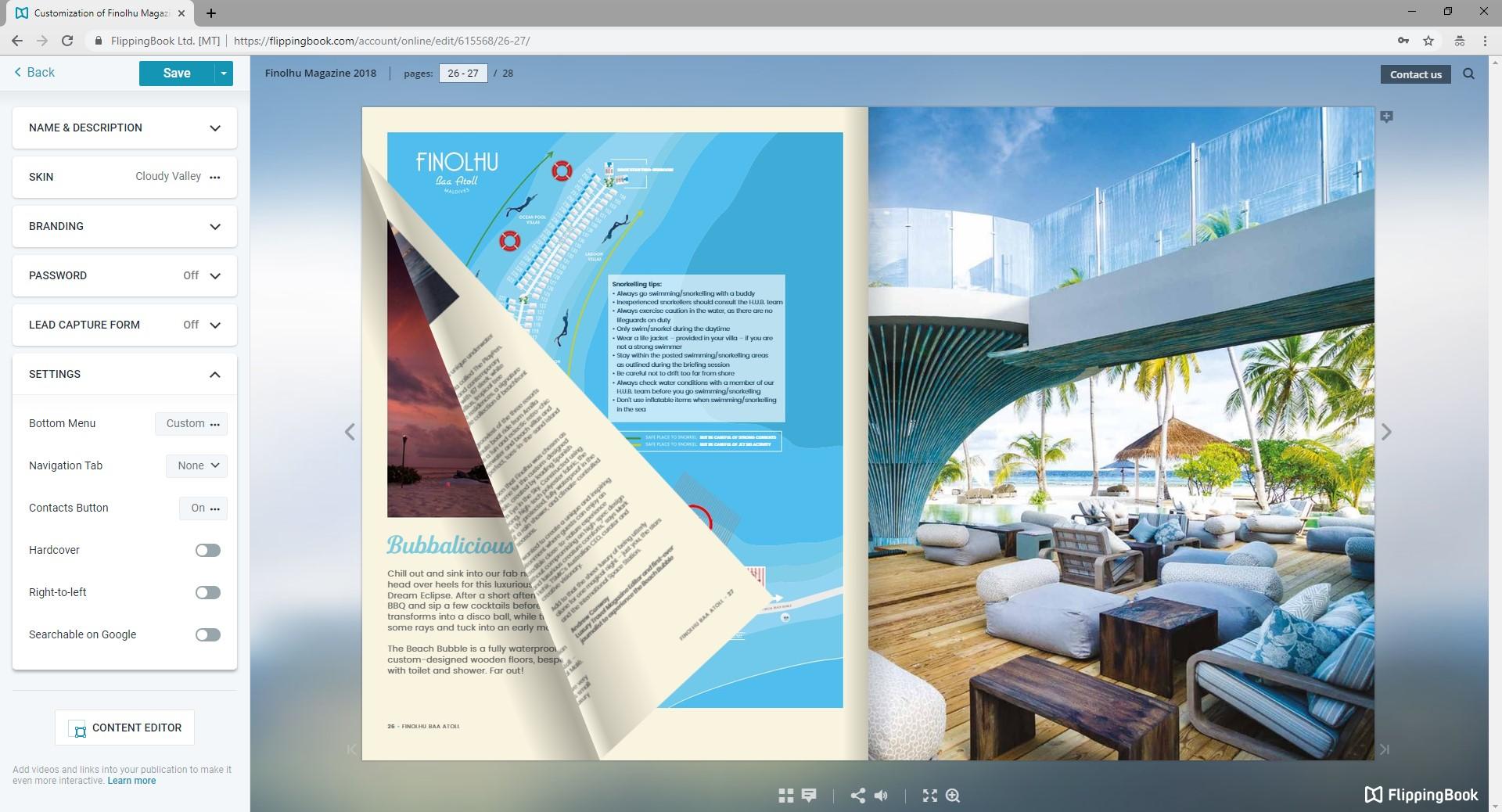 FlippingBook web service platform