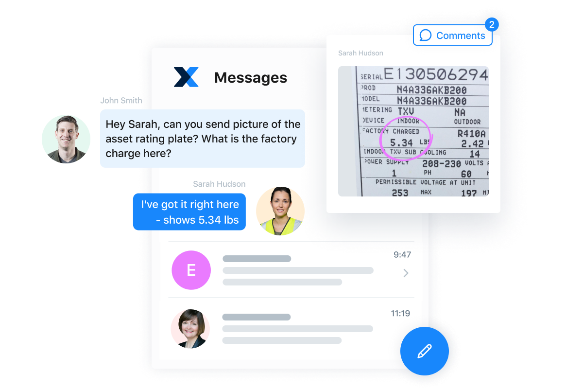 MaintainX Software - Collaborate with frontline teams through comments and in-app messages