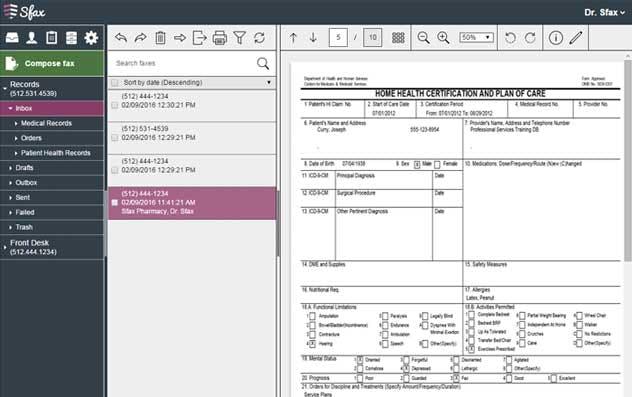 Sfax Software - Sfax fax inbox
