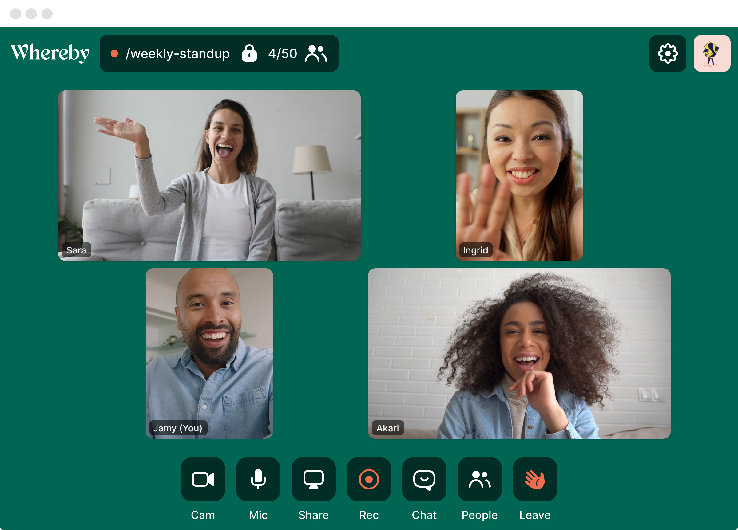 The easiest way to run a video meeting. No apps or download. Drop a unique URL and guests can join without subscribing. All meetings can be locked.
