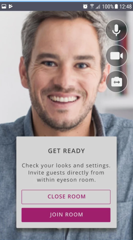 Invite guests directly from within an eyeson room
