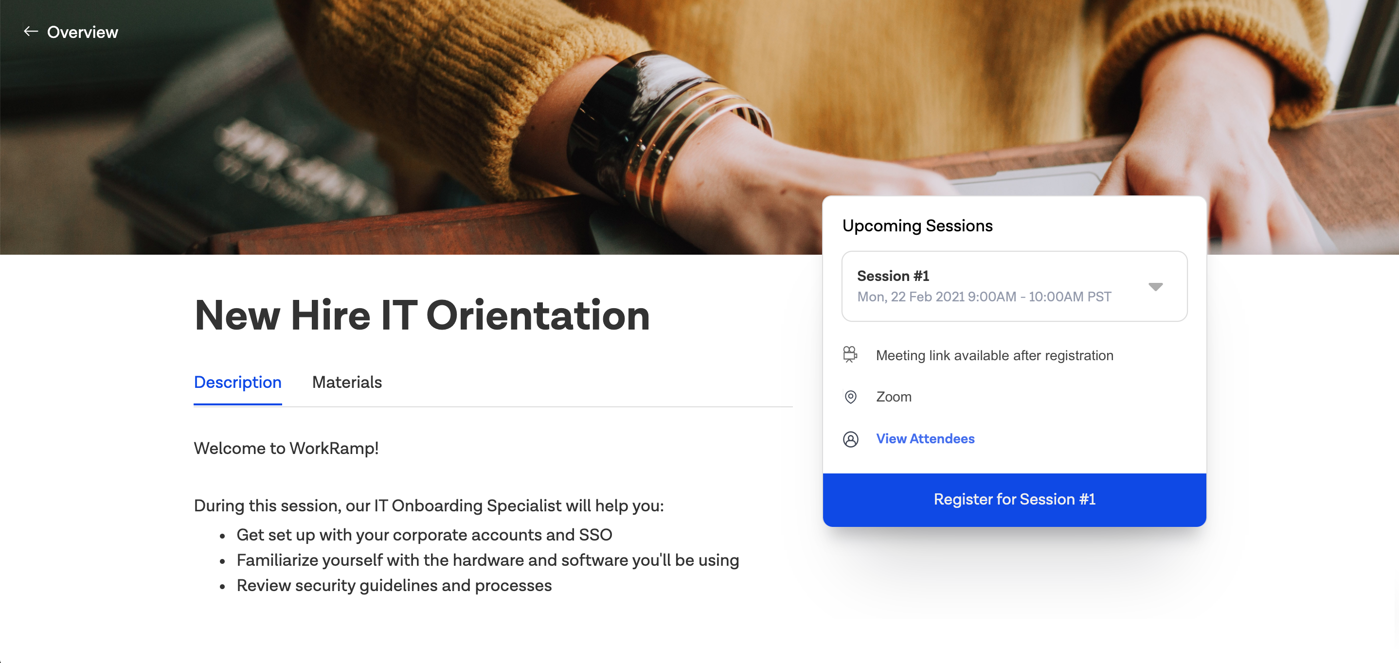 WorkRamp Software - Event Registration
