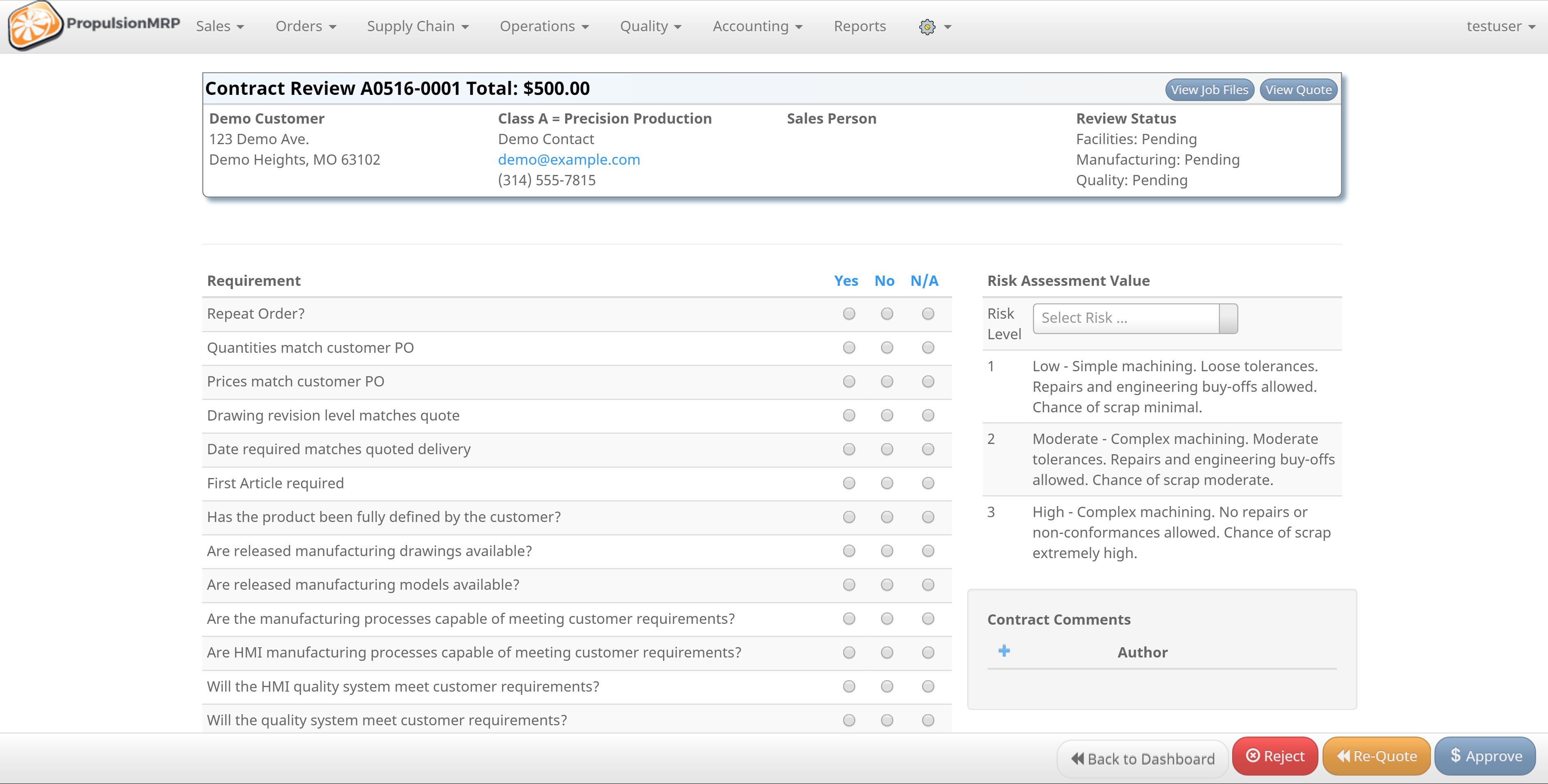 PropulsionMRP Software - Contract review