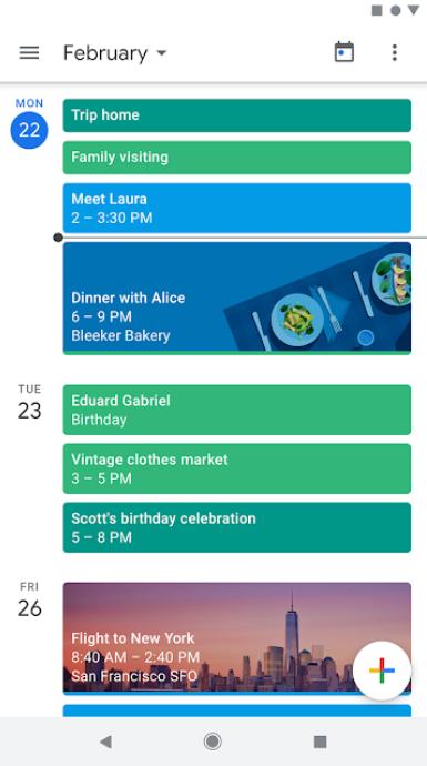 Google Calendar event tracking