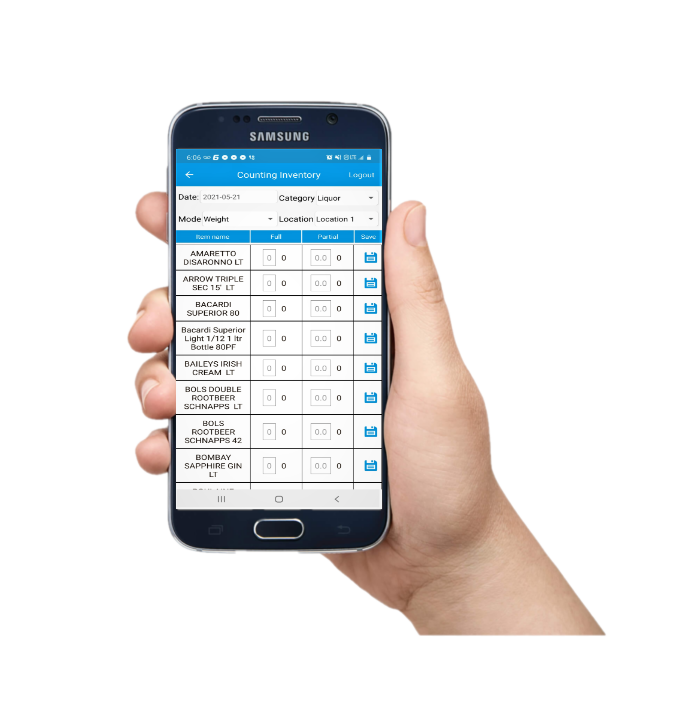 Skrible tracks your on-hand inventory daily which you helps our customers stay on top of their inventory