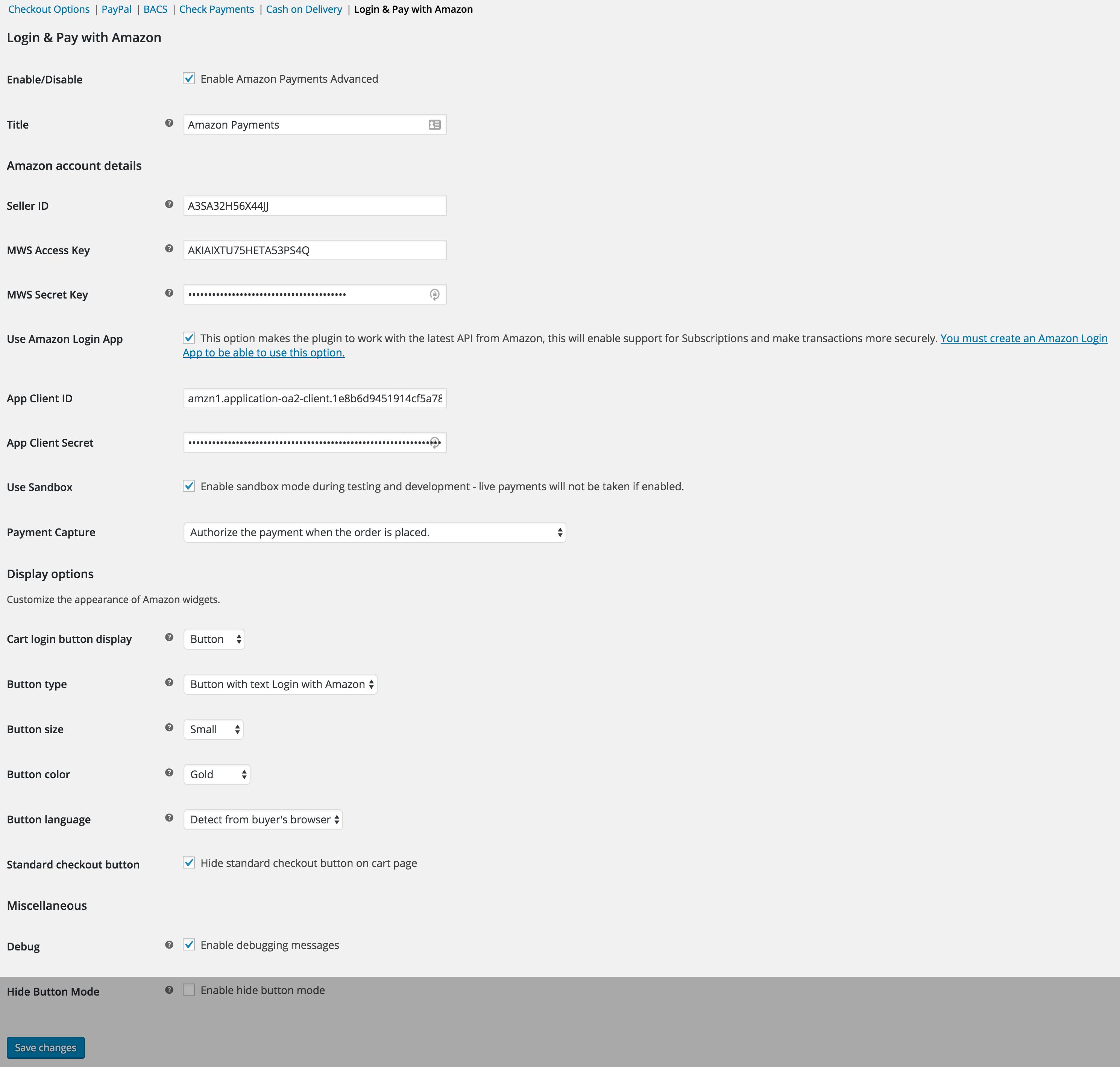 Amazon Pay integration