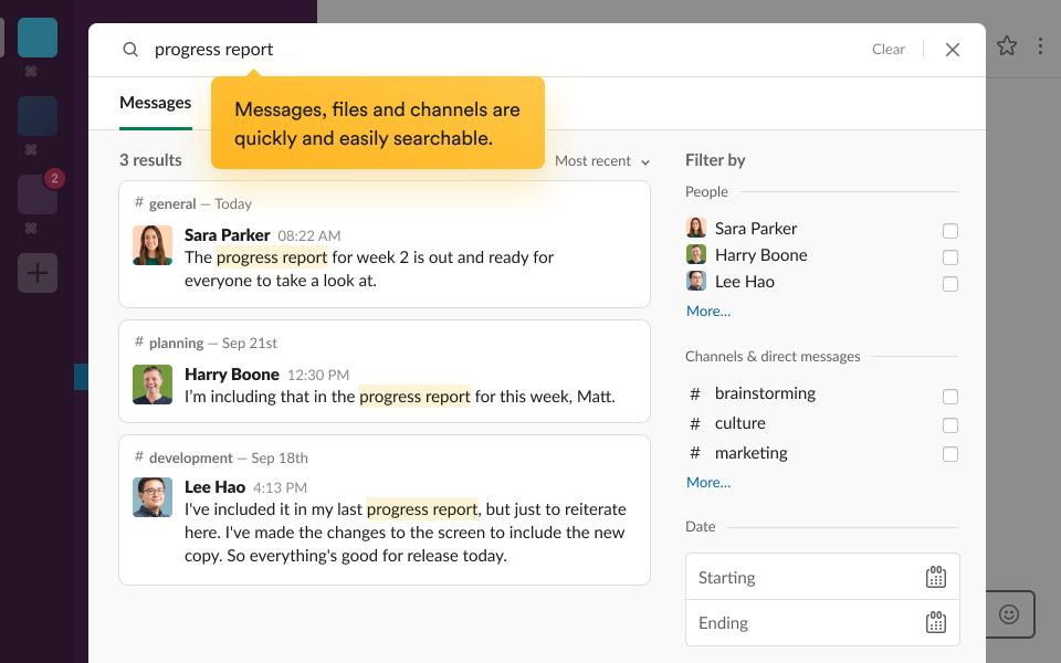 Slack search tools