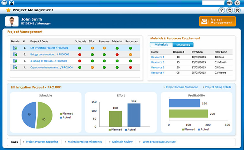 Ramco EAM on Cloud project management screenshot