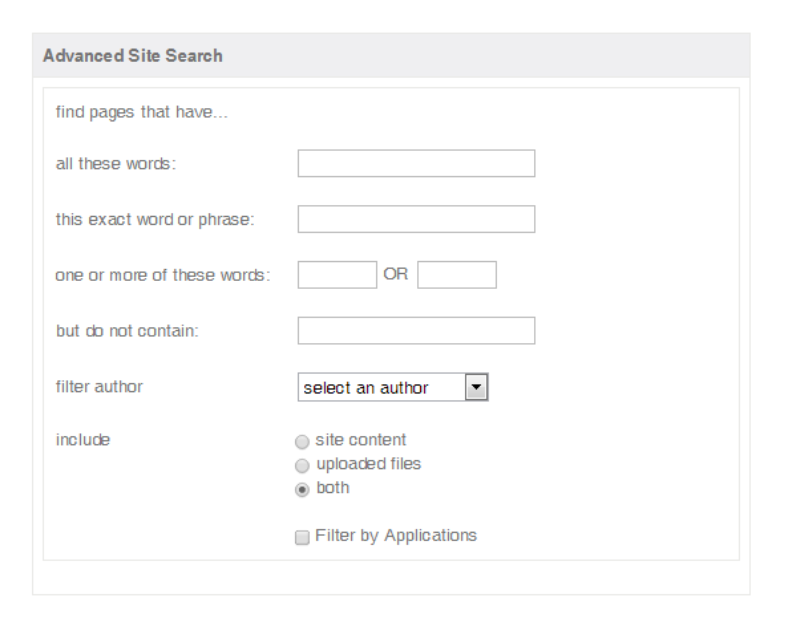 The quick search box allows employees to find content on the corporate intranet