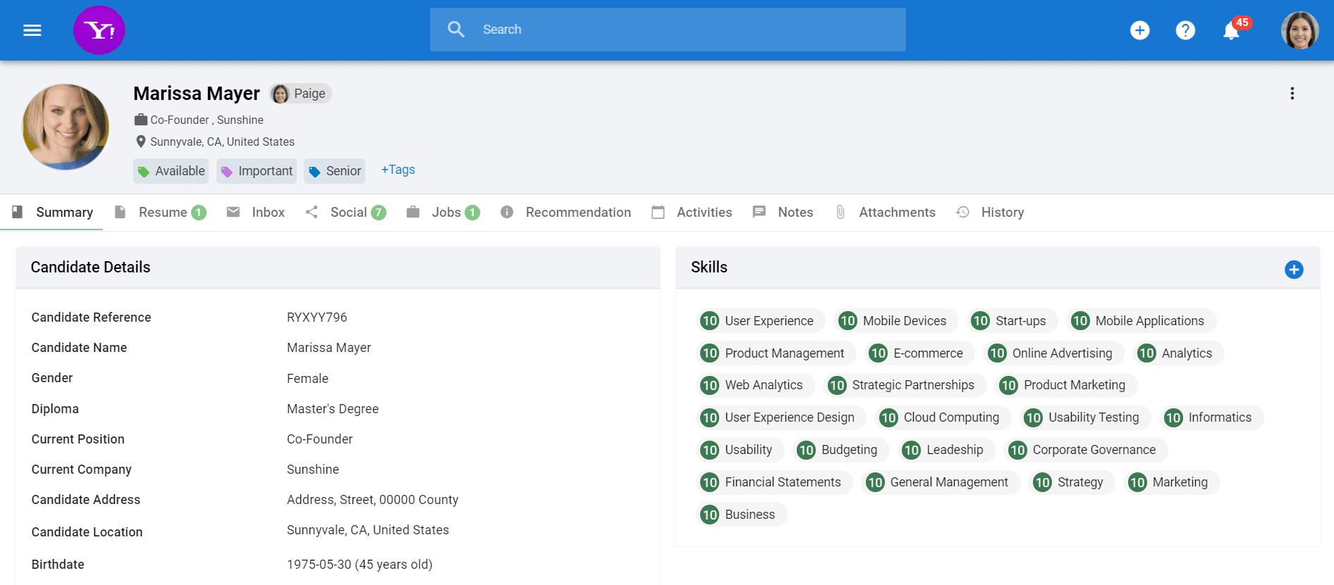 Manatal Software - Holistic Candidate Profiles