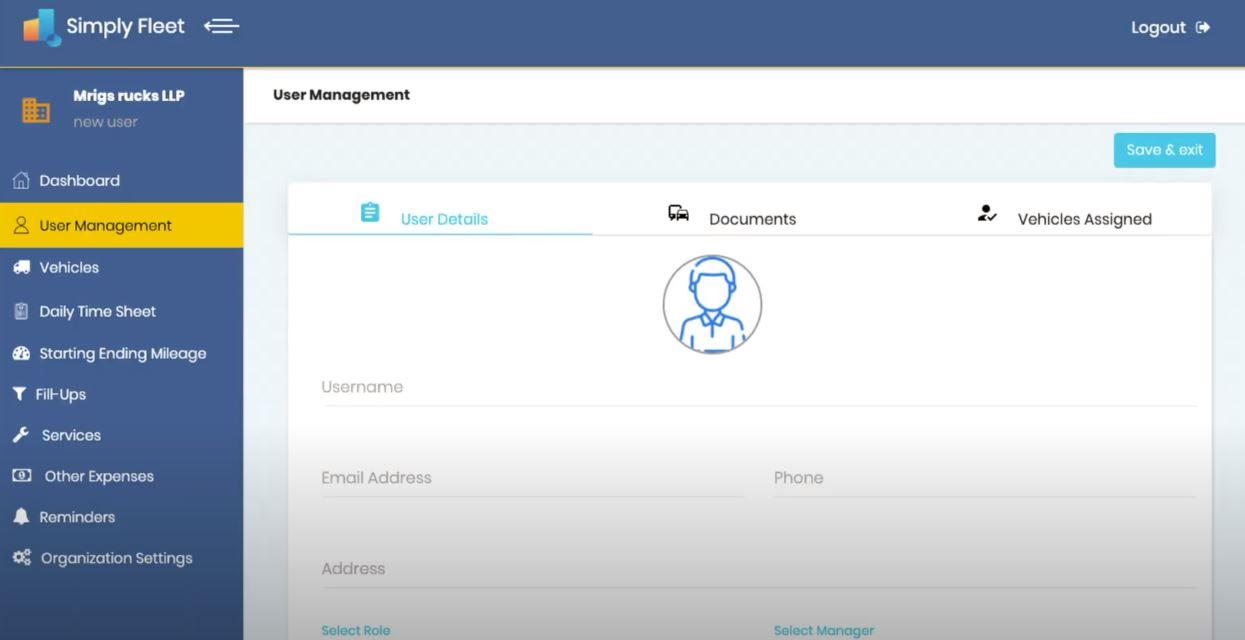 Simply Fleet user management