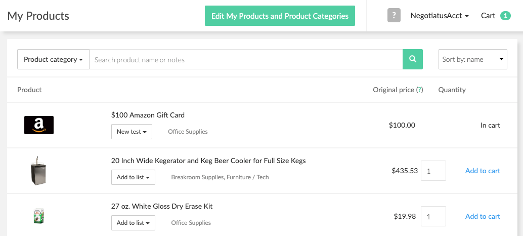Negotiatus Software - Negotiatus products list