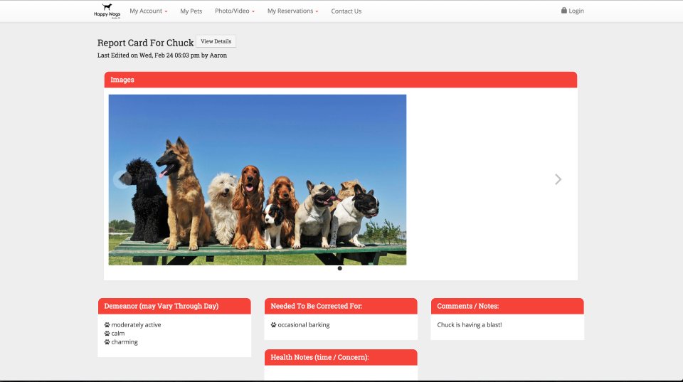 Create report cards for customers based on behavior