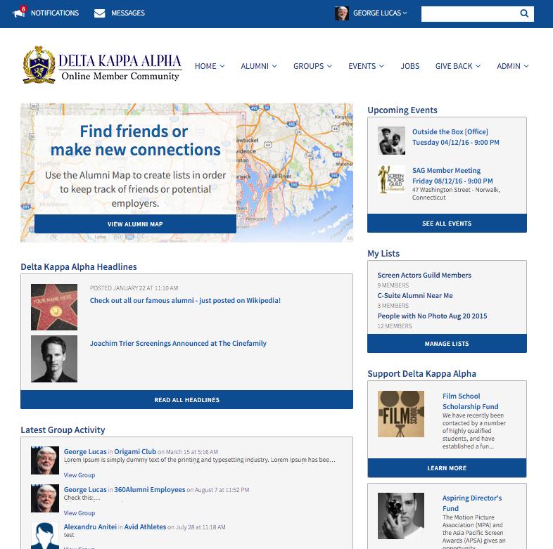 360Alumni homepage