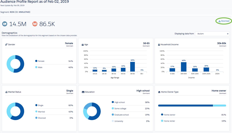 Salesforce Marketing Cloud Software - Audience Studio reporting