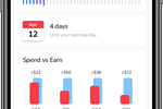 Branch Screenshot: Get an overview of upcoming account, upcoming expenses, and spending