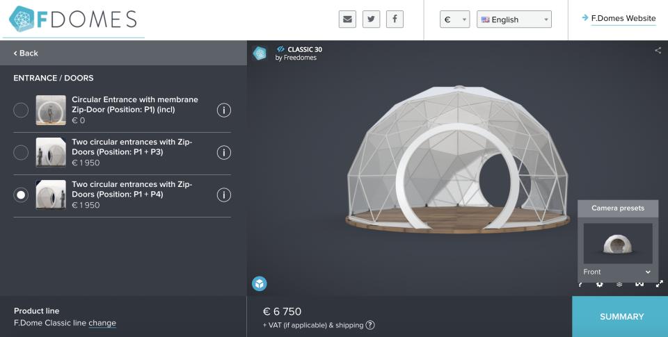 Domes configurator