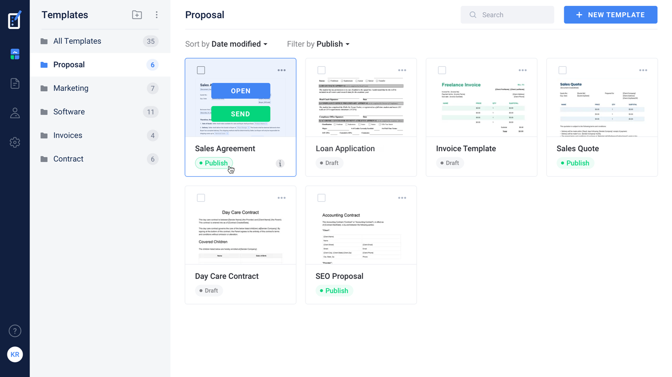 Formsio document templates