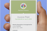 Square Invoices screenshot: Invoices and payment pages can be customized with company logos and color schemes