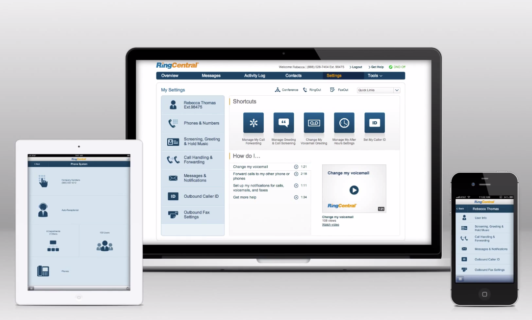 RingCentral Office integrates into any preferred accessory or device