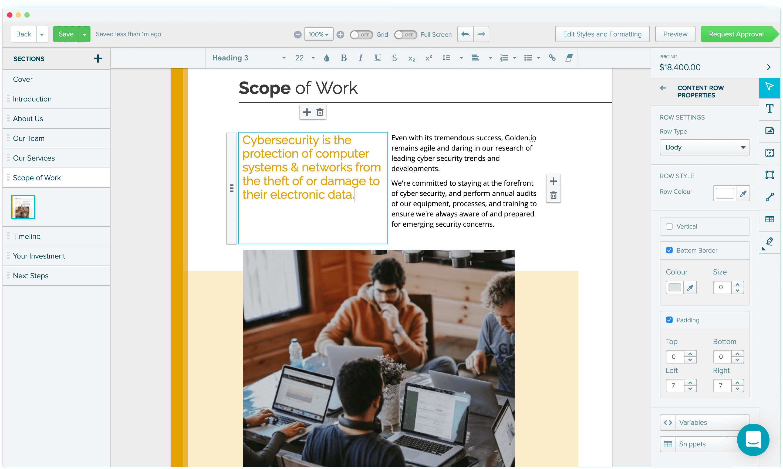 Proposify Editor
