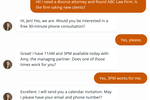 Smith.ai screenshot: Smith.ai live chat agents capture, screen and schedule appointments with new leads. Agents can also get fast answers and assistance to current clients.