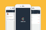 Captura de tela do AND. CO: The companion AND CO mobile app is available for iOS  and Android devices