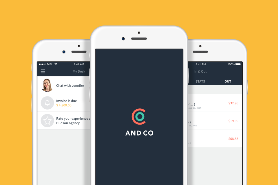 The companion AND CO mobile app is available for iOS  and Android devices