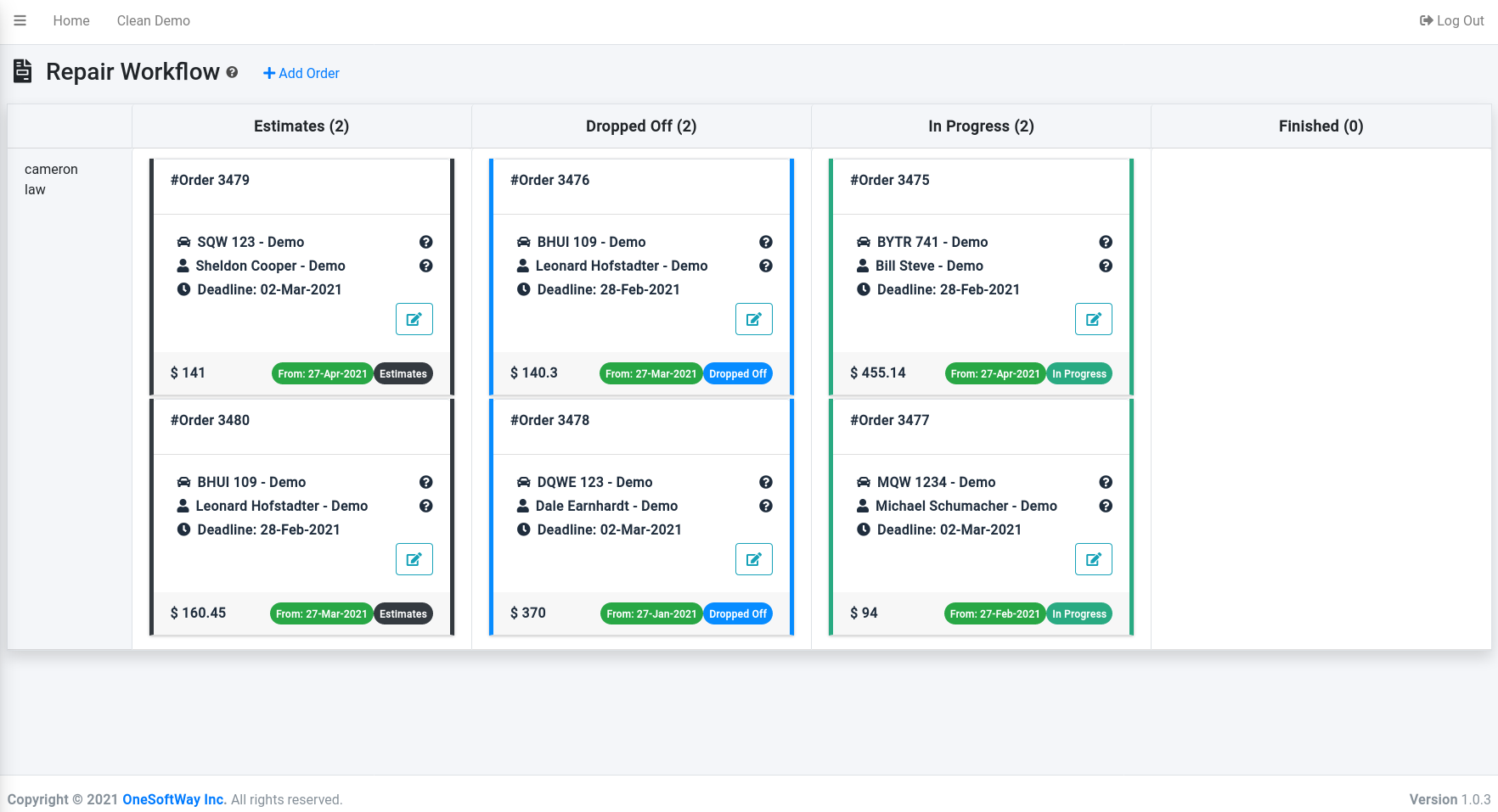 Drag and drop workflow