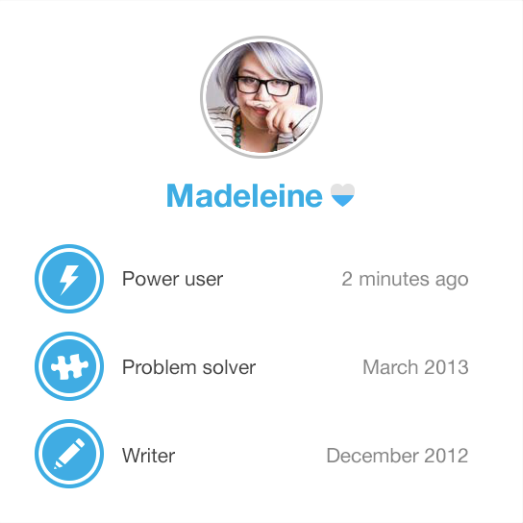 Badges can be displayed on users' profiles to showcase their achievements