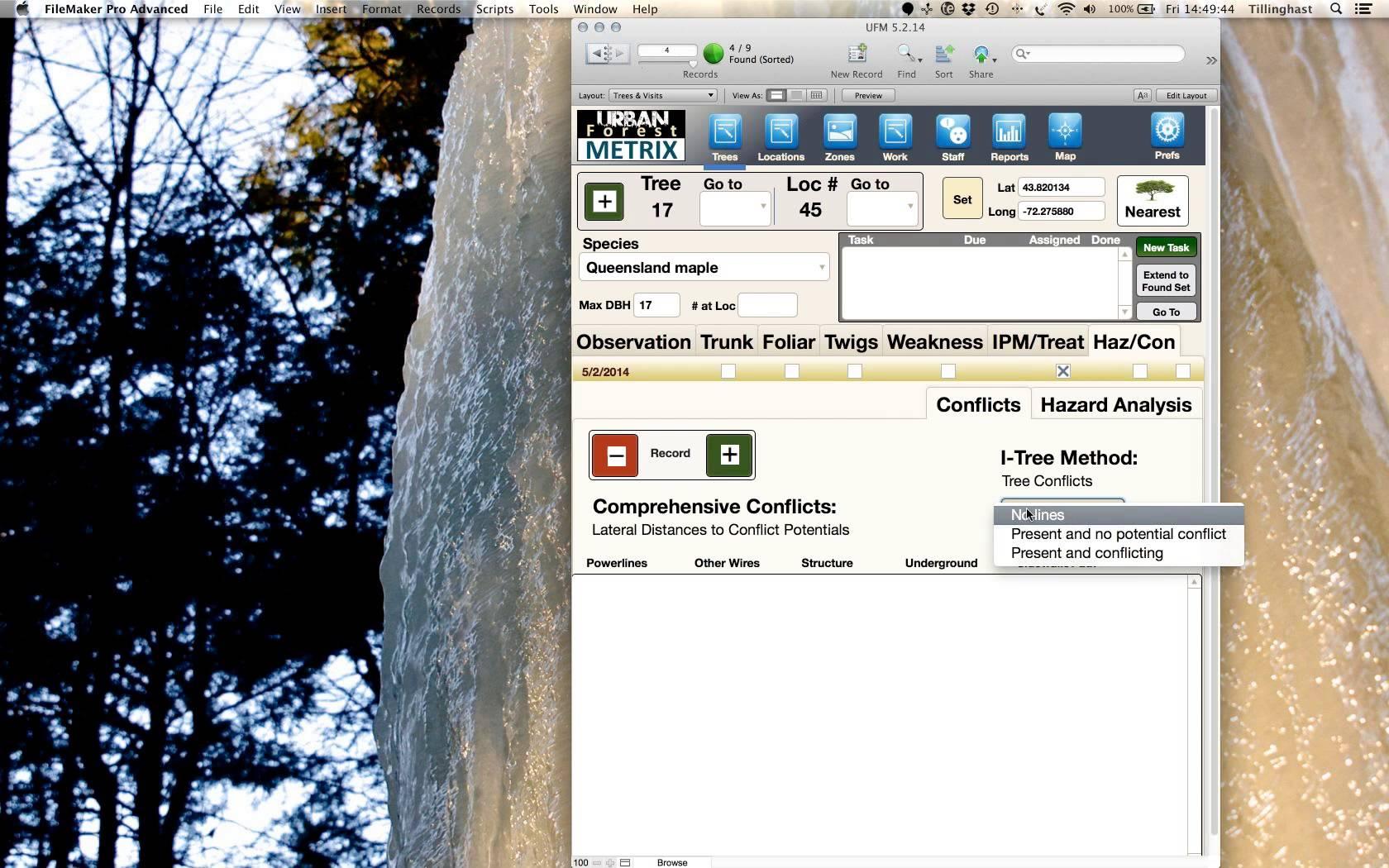 Forest Metrix enables users to undertake hazard analysis