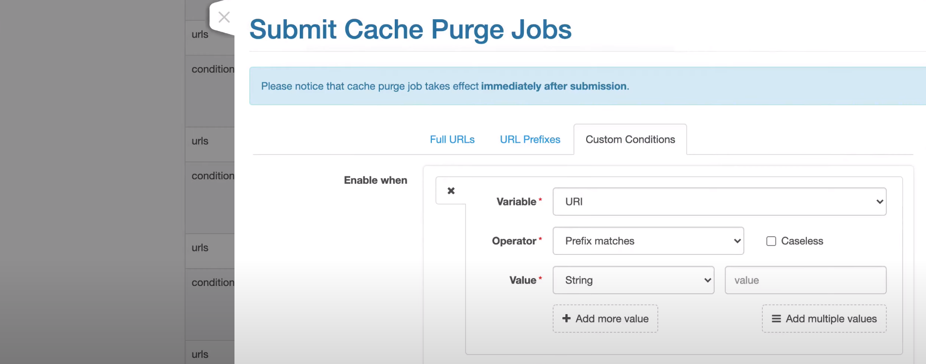 OpenResty cache purge jobs