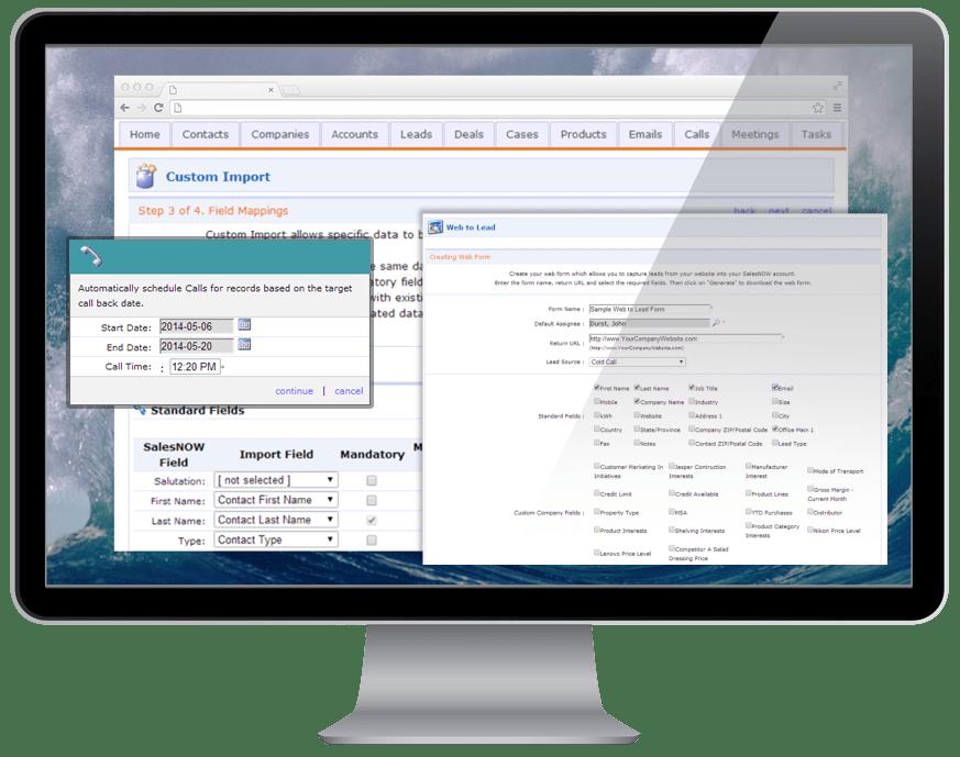 SalesNOW Software - SalesNOW desktop View
