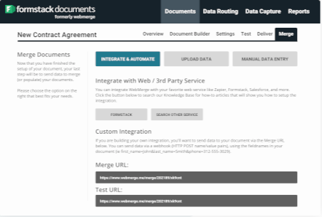 Formstack Documents document merging