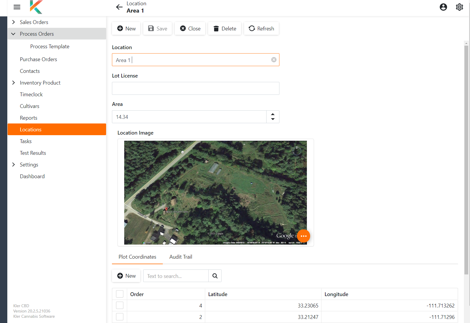 Plot Tracking Screen