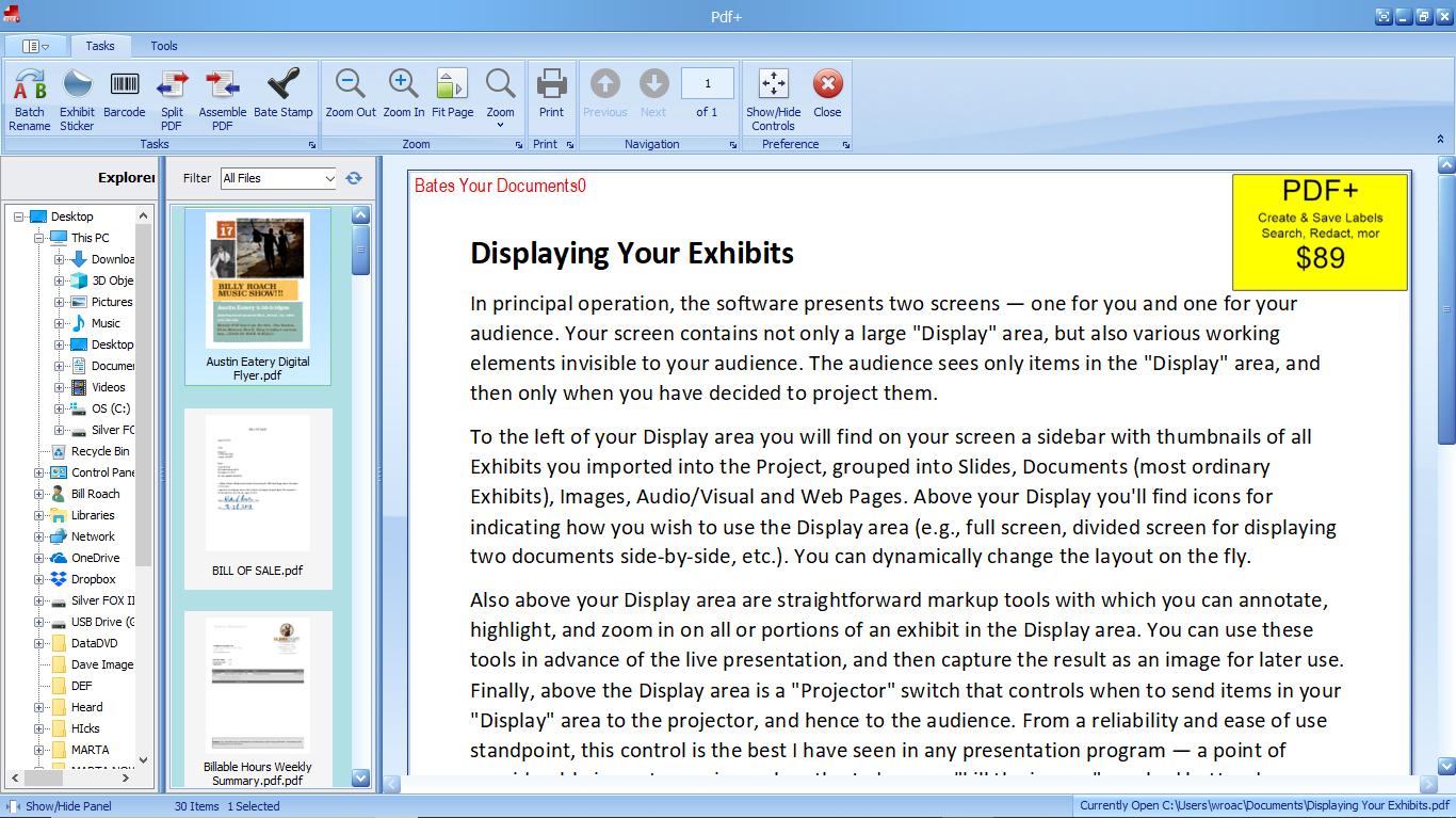 PDF+ tasks
