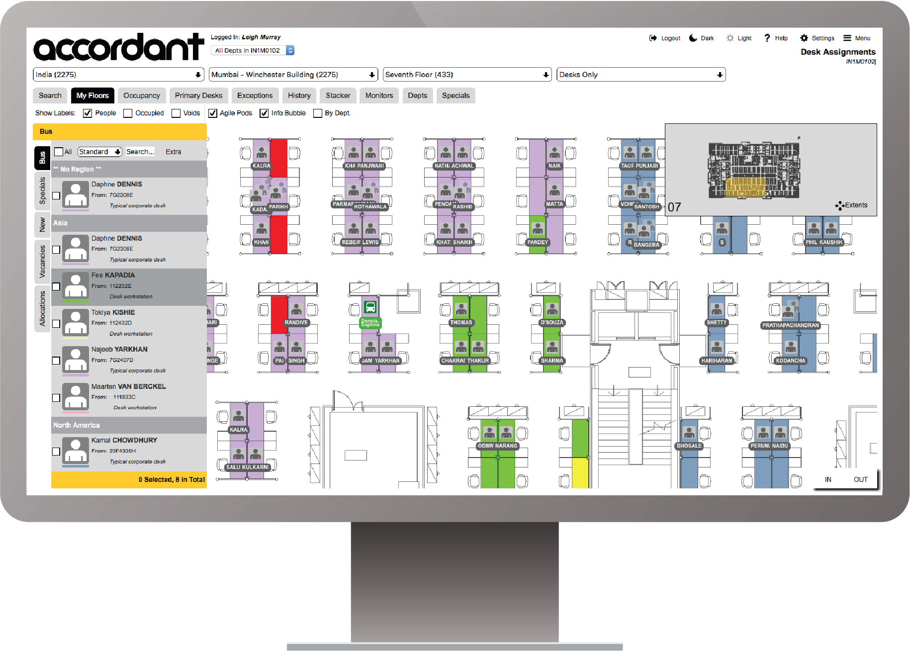 Accordant Software - Clear view of department allocations