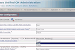 Cisco Unified Communications Manager screenshot: Cisco Unified Communications Manager service parameter configuration