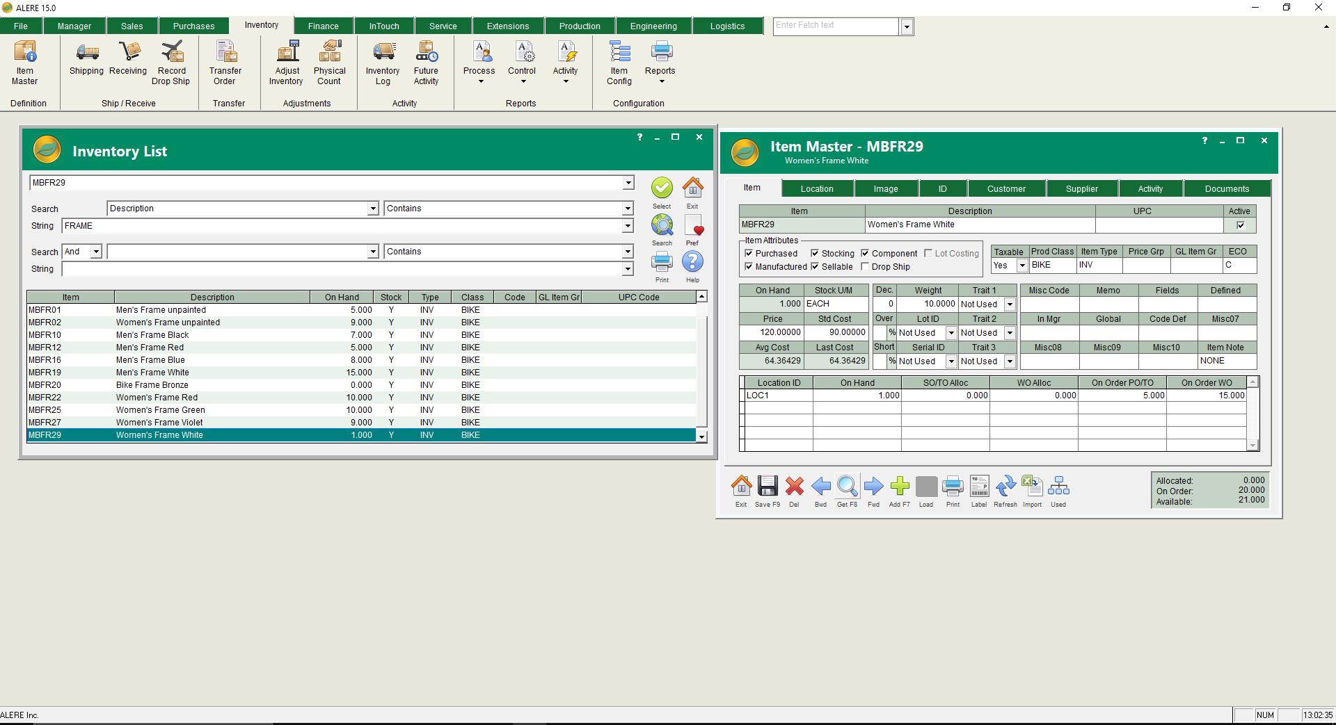 ALERE Inventory Management