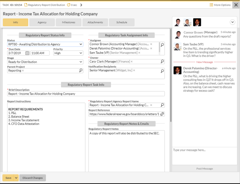 Intuitive task forms and real-time collaboration.