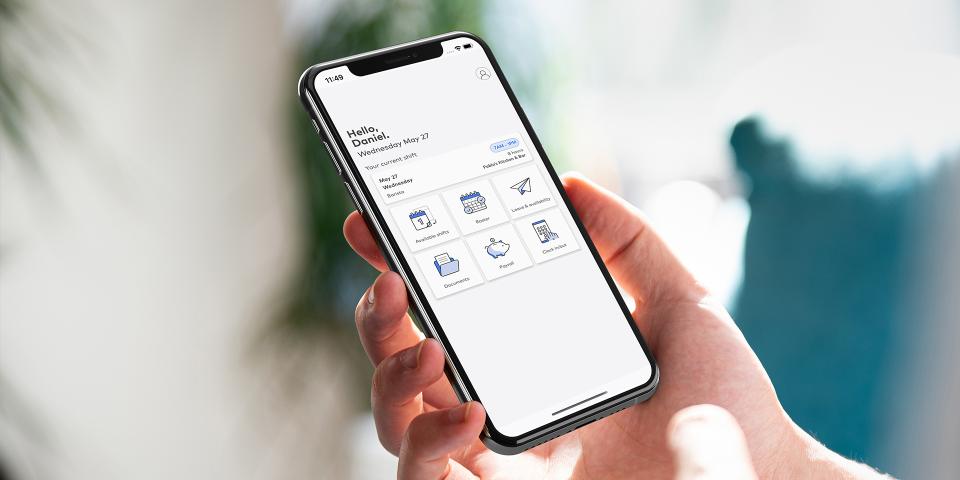 Roubler mobile app
