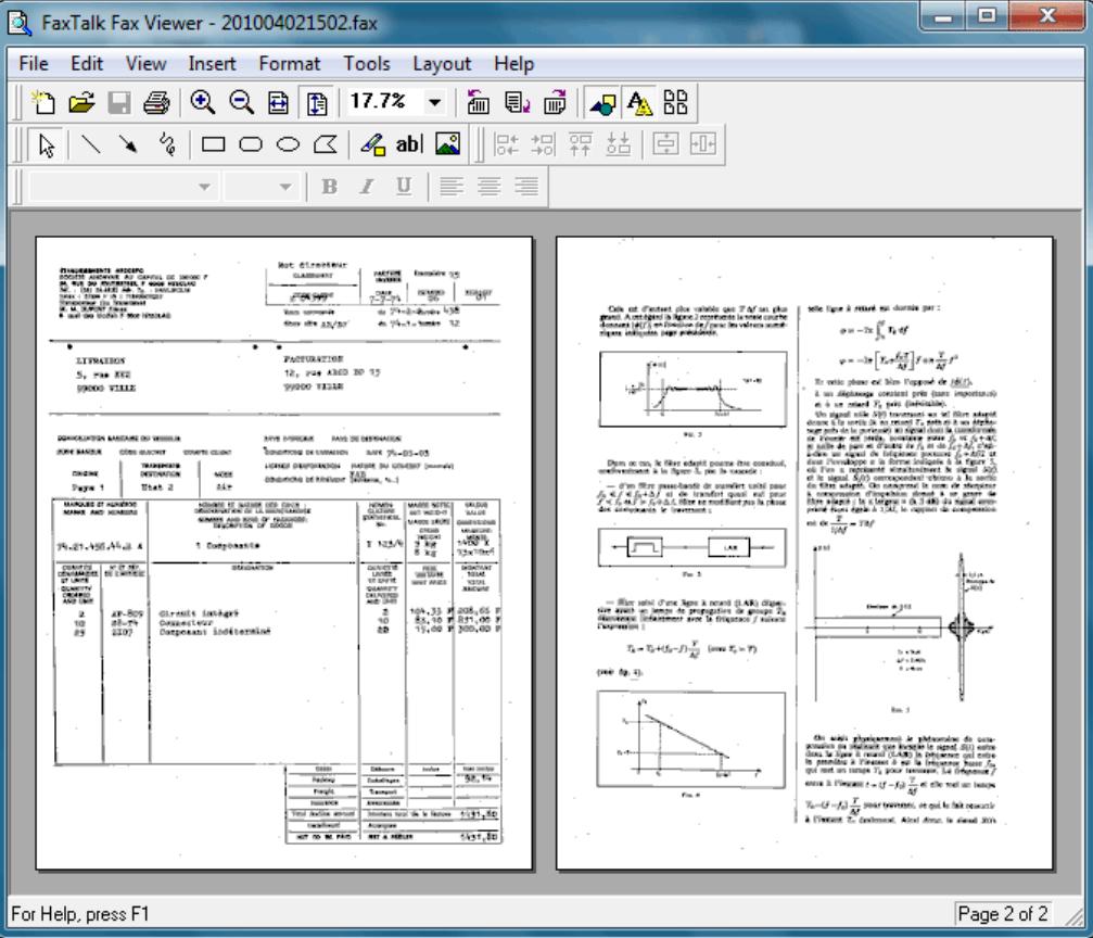 FaxTalk FaxCenter Pro fax viewer
