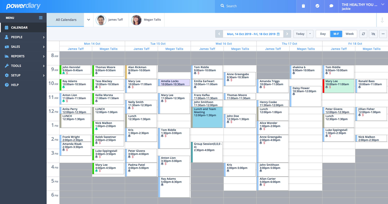 Power Diary calendar screenshot